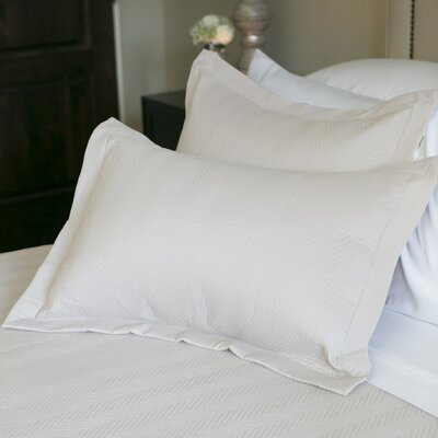 Eternal Matisse Quilted Sham Color: Ivory, Size: Standard