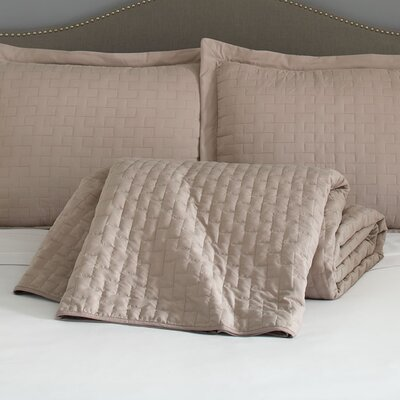 Eternal Madison 120 GSM Microfiber Luxury Quilted Blanket Color: Taupe, Size: Queen