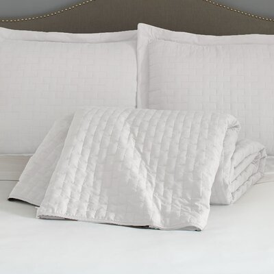 Eternal Madison 120 GSM Microfiber Luxury Quilted Blanket Color: White, Size: Queen