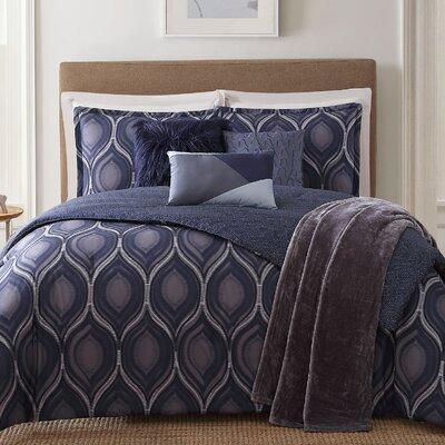 Basti 7 Piece Reversible Comforter Set Size: King