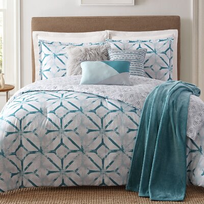 Lancaster 7 Piece Reversible Comforter Set Size: Full/Queen