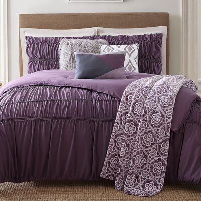 Minyar 7 Piece Comforter Set Size: Full/Queen