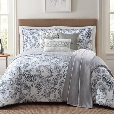 Brooktree 7 Piece Comforter Set Size: King