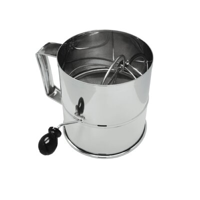 Rotary 8 Cup Stainless Steel Flour Sifter RFS-3LB