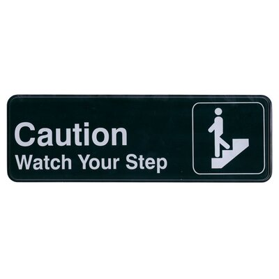 Self Adhesive Caution Watch Your Step Sign
