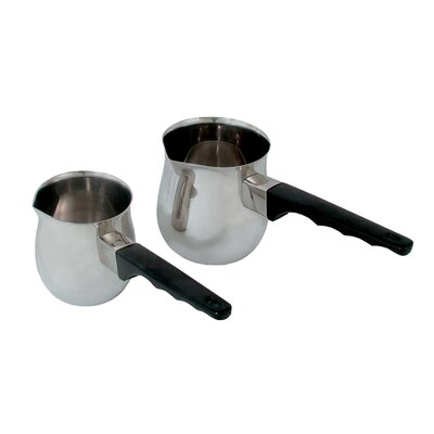 "Stainless Steel Turkish Coffee Server Size: 3.5"" H x 3.25"" W x 3.25"" D TCD-12"