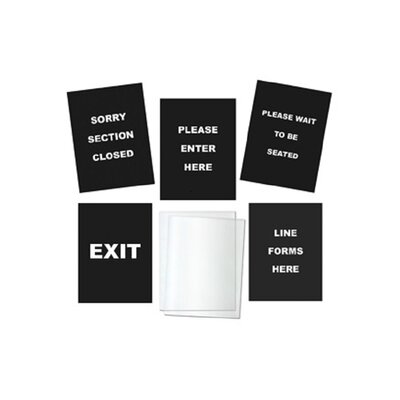 5 Piece Sign Set for RS 36BK/N and RS 36SS/N