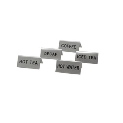 Stainless Steel Hot Water Place Card Holders