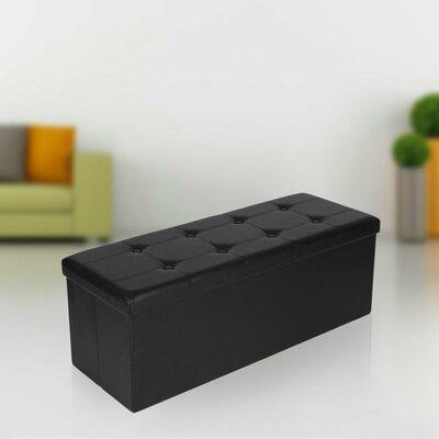 Morales Storage Ottoman Upholstery: Black