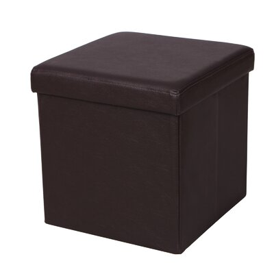 Cube Folding Storage Ottoman Upholstery: Brown