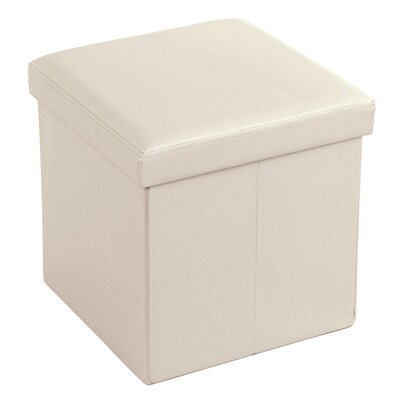 Cube Folding Storage Ottoman Upholstery: Beige