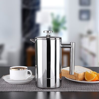 French Press Stainless Steel Coffee and Tea Maker UKFP10S
