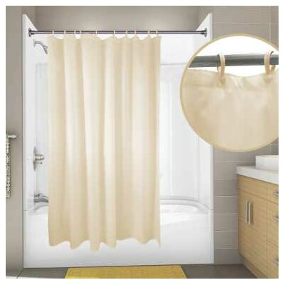 Nylon Primier Hotel Shower Curtain Color: Champagne