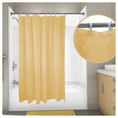 Nylon Primier Hotel Shower Curtain Color: Beige