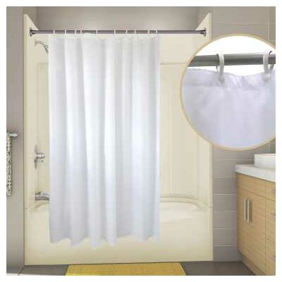 Nylon Primier Hotel Shower Curtain Color: White