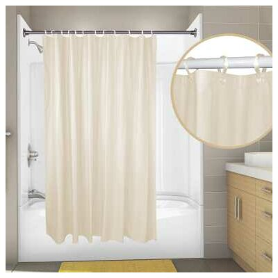 Vinyl Proplus Omega Shower Liner Color: Champagne