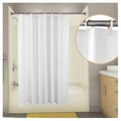 Vinyl Proplus Supersuede Shower Curtain Color: White