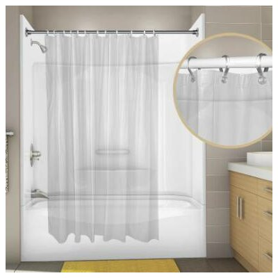Vinyl Proplus Econocord Shower Curtain Color: Frosty Clear