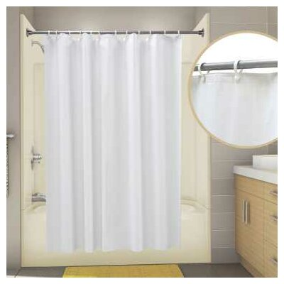 Vinyl Proplus Econocord Shower Curtain Color: White