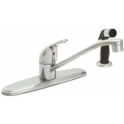 Single Handle Hybrid Kitchen Faucet Side Spray: With Spray
