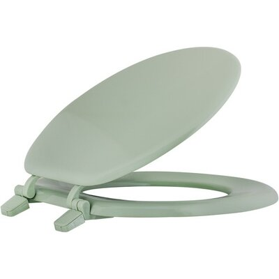 Closed Front Wood Round Toilet Seat Finish: Green