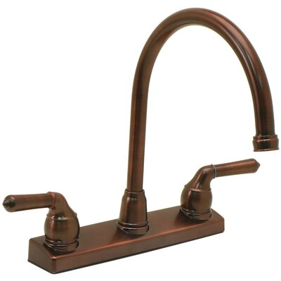 Double Handle Deck Mounted Kitchen Faucet Finish: Oil Rubbed Bronze