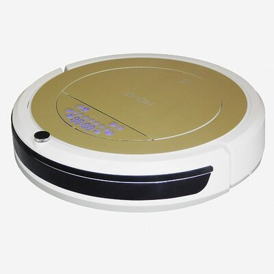 Bagless Robotic Vacuum with Anti-Allergy UV and HEPA Filter Hovo 750 gold