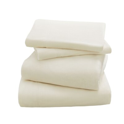 Peak Performance Fleece Sheet Set Size: Twin, Color: Ivory