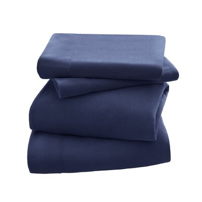 Peak Performance Fleece Sheet Set Size: King, Color: Navy