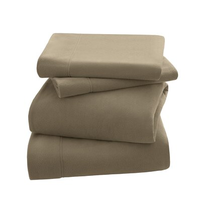 Peak Performance Fleece Sheet Set Size: Twin, Color: Mink