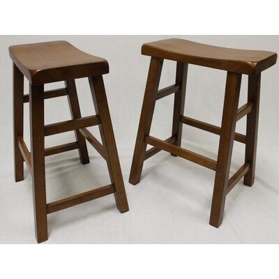 Lyndora 24 Bar Stool Finish: Dark Oak