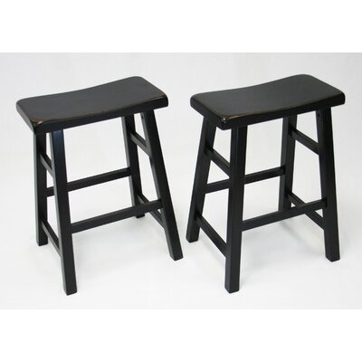 Lyndora 24 Bar Stool Finish: Antique Black