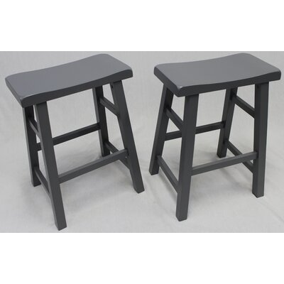 Lyndora 24 Bar Stool Finish: Gray