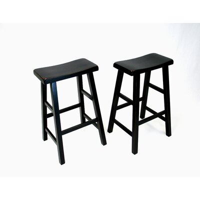 Lynnwood 29 Bar Stool Finish: Antique Black