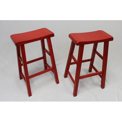 Lynnwood 29 Bar Stool Finish: Red
