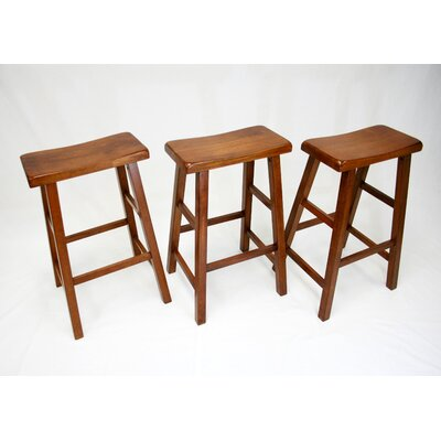 Mahaffey 29 Bar Stool Upholstery: Dark Oak