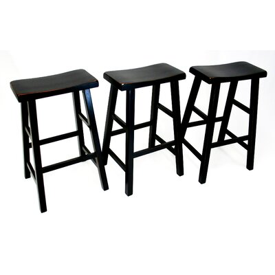 Mahaffey 29 Bar Stool Upholstery: Antique Black