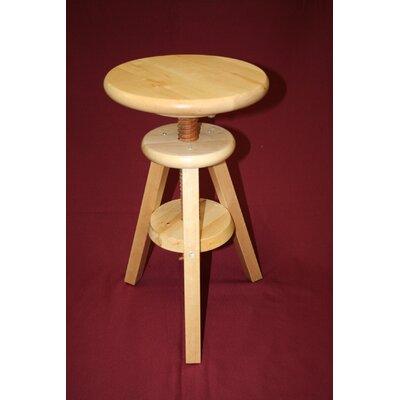 Wooden Adjustable Height Swivel Bar Stool