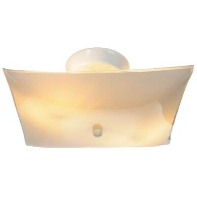 Square 2-Light Semi Flush Mount (Set of 12)