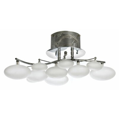 Reppert 8-Light Semi-Flush Mount