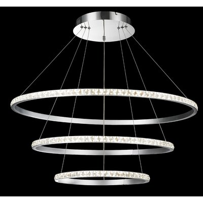 Rosehill 3-Lights Geometric Pendant