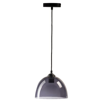 Rosenbloom Suspension 1-Light Bowl Pendant Shade Color: Gray