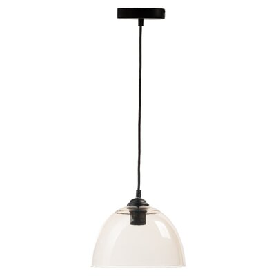 Rosenbloom Suspension 1-Light Bowl Pendant Shade Color: Clear