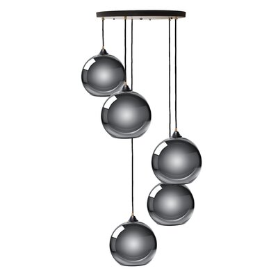 Copeland Sphere 5-Light Cluster Pendant Shade Color: Chrome