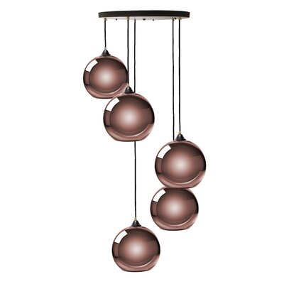 Copeland Sphere 5-Light Cluster Pendant Shade Color: Copper