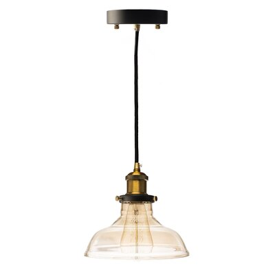 Fabian Pyramid Shade 1-Light Mini Pendant Size: Small