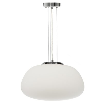 Todd Opal Glass 1-Light Inverted Pendant