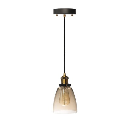 Julius Cognac 1-Light Mini Pendant