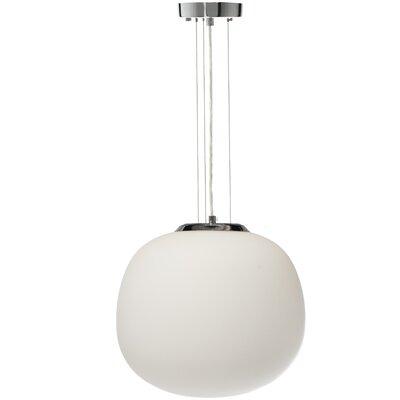 Todd Opal Glass 1-Light Globe Pendant