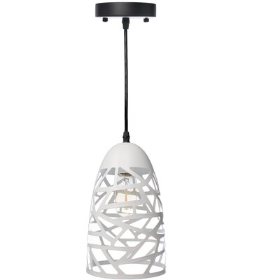 Montross 1-Light Mini Pendant Shade Color: White